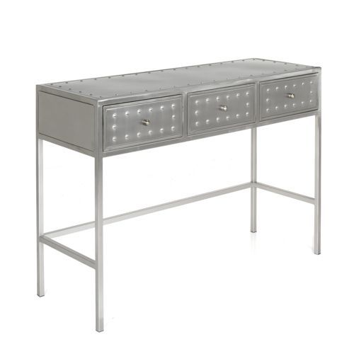 Console industrielle en acier 3 tiroirs mekano muebles pinterest d chang 39 e 3 and tables for Grande table industrielle