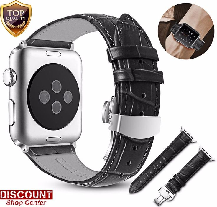 Watch Band For Apple 42mm Genuine Leather Strap Wrist Bracelet Series 3 2 1 New #WatchBandForApple29853