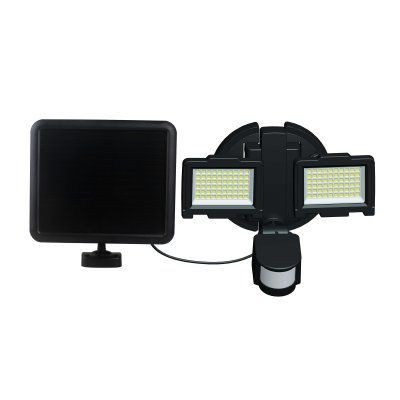 Nature Power 120 LED Dual Lamp Outdoor Solar Security Light With Motion  Sensor   23401