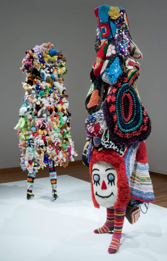 """Nick Cave's """"soundsuit"""". Not The Nick Cave of Bad Seeds fame but Nick Cave performance artist and sculptor"""