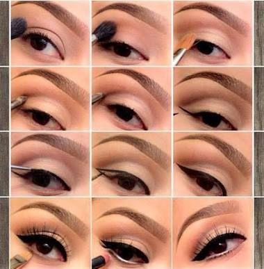 Resultado de imagen para maquillaje de ojos paso a paso de dia para piel morena