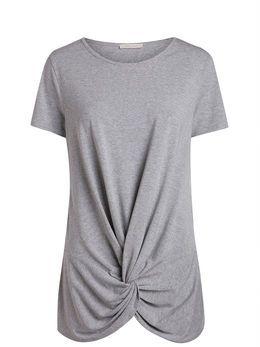 SHORT SLEEVED T-SHIRT, Light Grey Melange  la forme