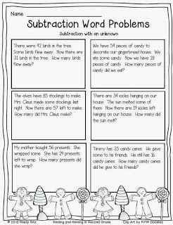 Christmas Math - Problem Solving
