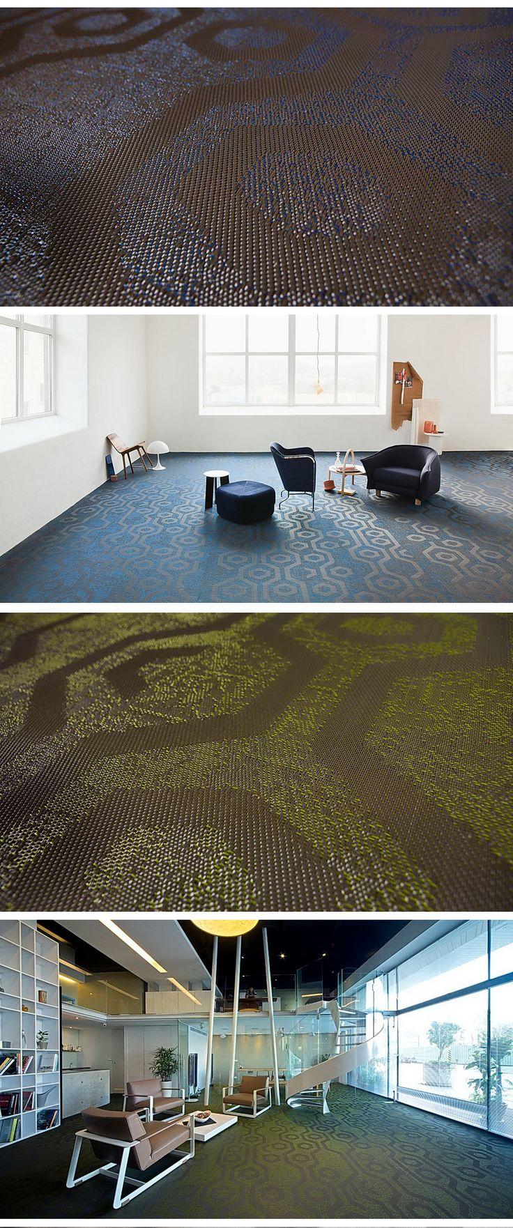 Необычные дизайнерские полы представила фабрика Bolon это новинка 2017 года из коллекции Create. Виниловый пол содержит профилированную текстурированную нить, которая создает трехмерный рисунок.