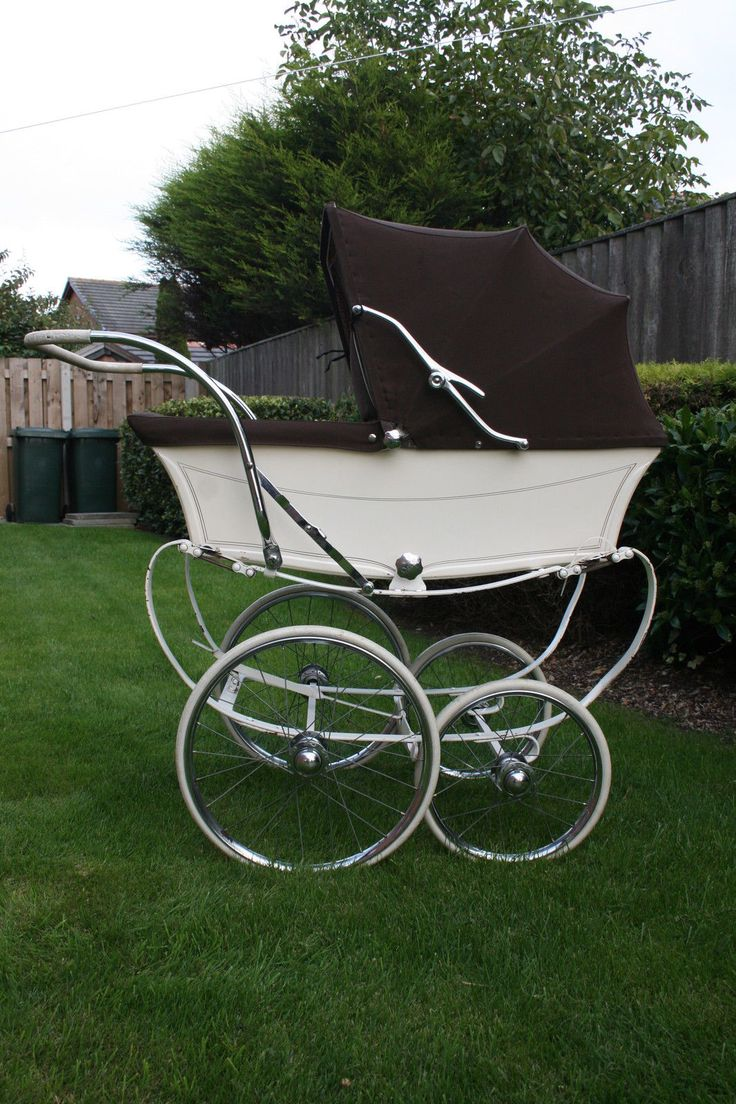 Vintage Osnath 1966 Brown and Cream Coachbuilt Baby Pram | eBay