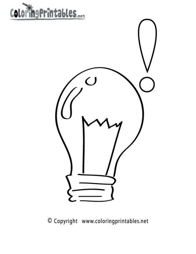 Excellent Image Of Light Bulb Coloring Page Free Coloring Pages