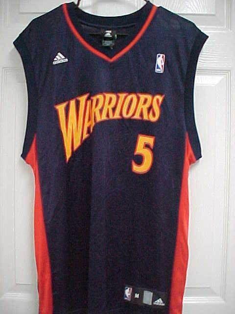 c9b0f052250 BARON DAVIS 5 Golden State Warriors Nylon Blue Basketball Jersey M Adidas  NBA #adidas #GoldenStateWarriors