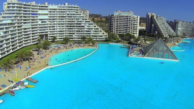 San Alfonso del Mar is a private resort in Algarrobo, Chile. It looks amazing…