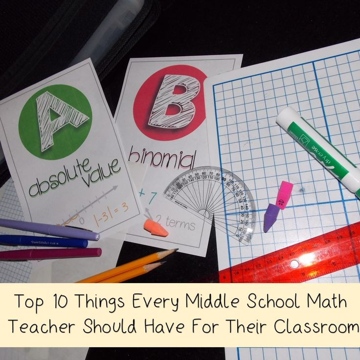 Math in the Middle Blog| Top 10 Things Every Middle School Math Teacher Should Have for Their Classroom