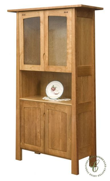 Modern Craftsman Style Works Well In Small Spaces. Our Lucas 2 Door Hutch Is