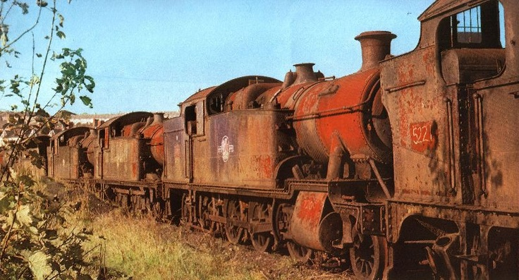 Abandoned steam trains - Barry, Wales