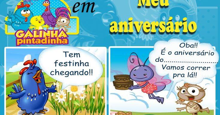 Lindo convite gibi da Galinha Pintadinha para baixar grátis         DOWNLOAD CLIQUE AQUI