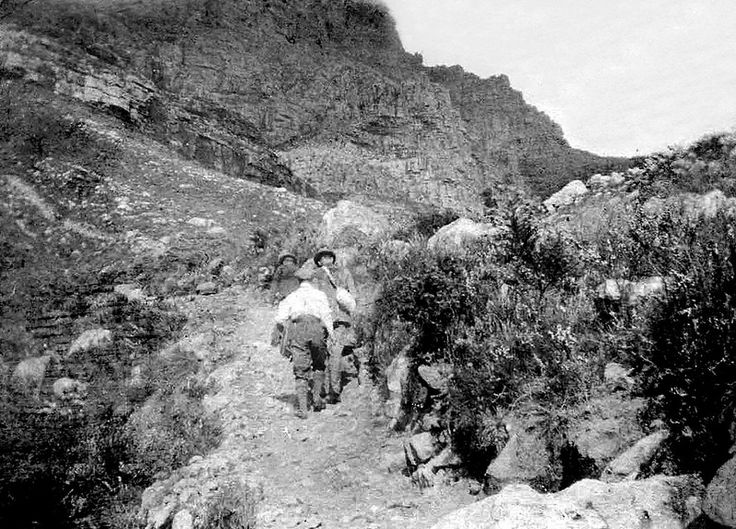 Hiking on Table Mountain, Cape Town c1910