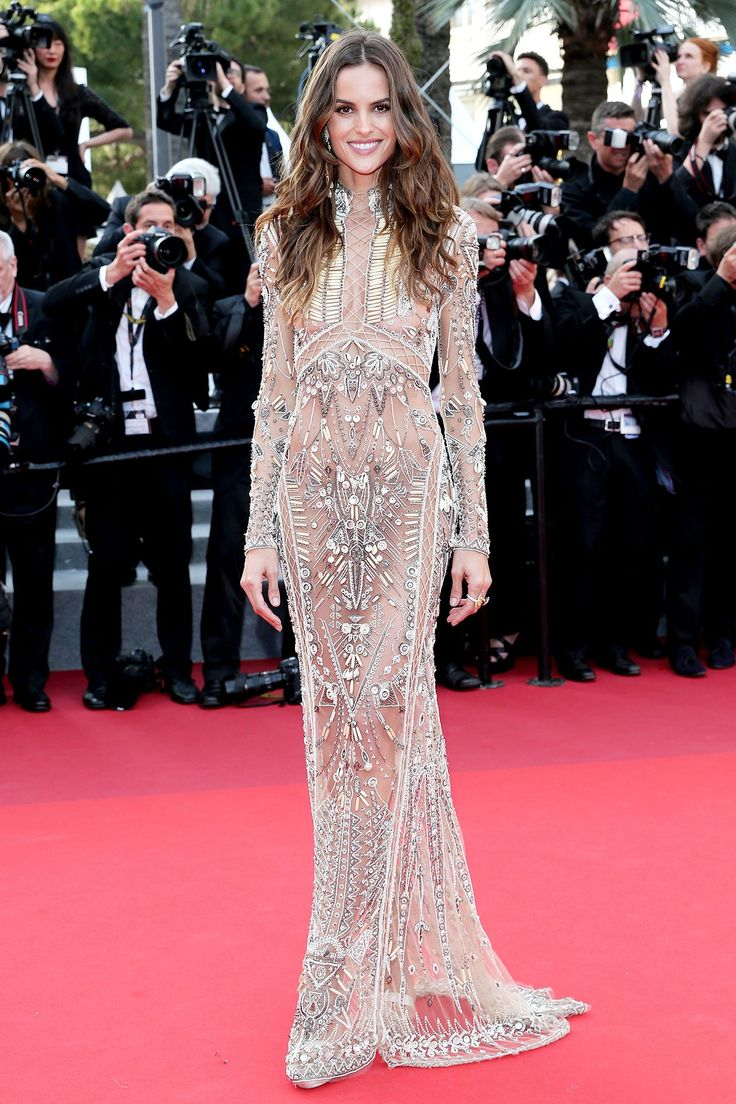 Izabel Goulart wore a bejewelled Roberto Cavalli dress. The Beguiled Premiere - May 24 2017