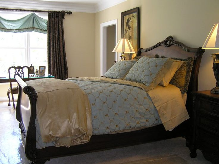 Great Blue And Brown Bedroom