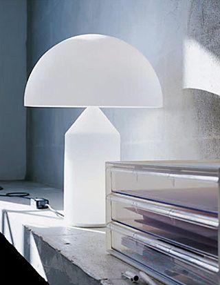 Object design | Designed by Vico Magistretti in 1977 Table lamps, Oluce Atollo 235, Compasso d'Oro 1979