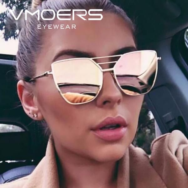 778c82dc29  FASHION  NEW VMORS Ladies Pink Mirror Sunglasses Women Brand Lunette Female  2018 Sun Glasses For Women Aviator Shades Oculos de sol…