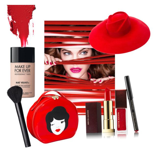 """""""Make up"""" by melinanne on Polyvore featuring L'Oréal Paris, MAKE UP FOR EVER, Kevyn Aucoin, NARS Cosmetics et Gucci"""