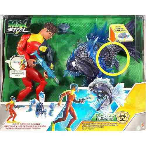 Max Steel Turbo Missions Toy | Max Steel Turbo Missions Max Extroyer Piranha