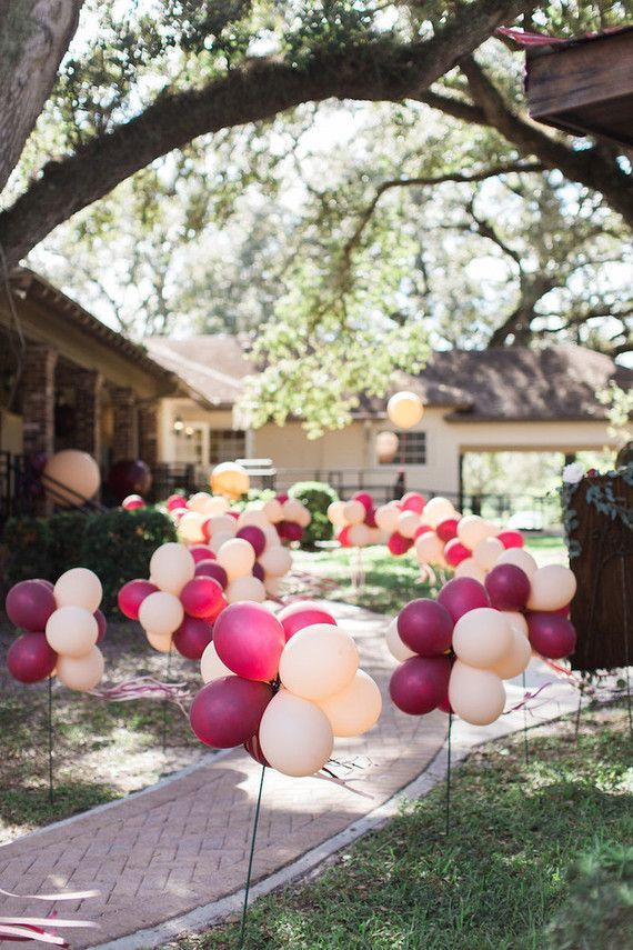 Balloon pathway would be perfect for a graduation party, and you could make their school colors!