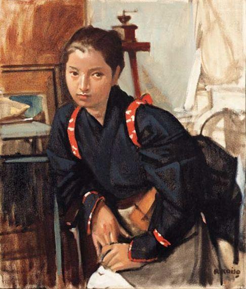 KOISO RYOHEI (Japanese: 1903-1988) - Shirakawa onna (Shirakawa woman)