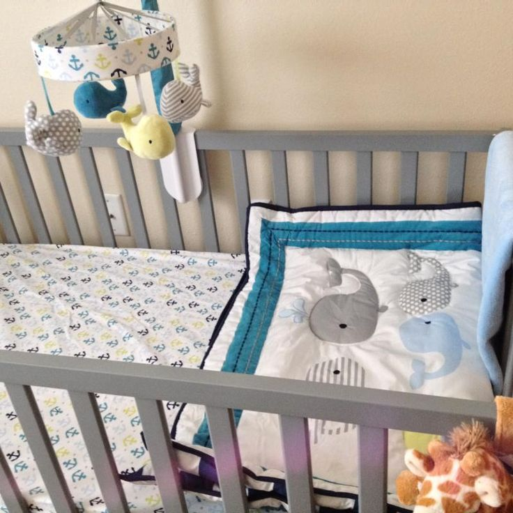 Circo 4pc Crib Bedding Set Whales N Waves Nursery