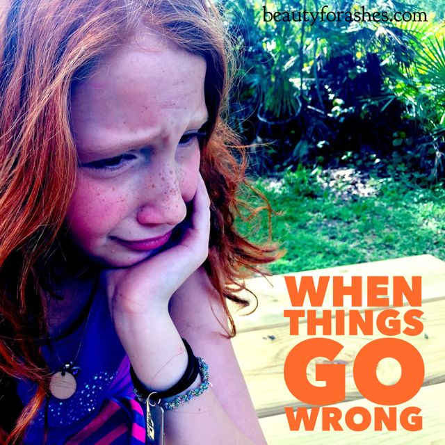 When things go wrong by Lisa Harris. Have you noticed that even when we've made the decision to put our trust fully in God, there are still times when things go wrong and God seems far away?