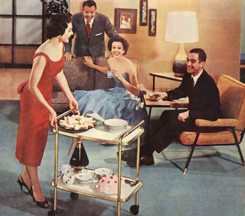 Entertaining. 1950's style