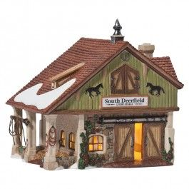 Department 56 - New England Village - South Deerfield Livery Stable | Department 56 Villages, Free Shipping on Dept 56