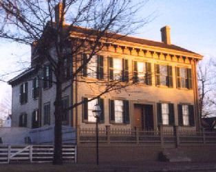 Home of Abraham and Mary Lincoln in downtown Springfield.