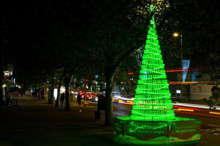 900 plastic bottles (2 seconds worth of UK consumption) as Ealing Council's 2013 tree (London)