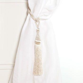 Cream curtain tieback - Zara Home $19.90