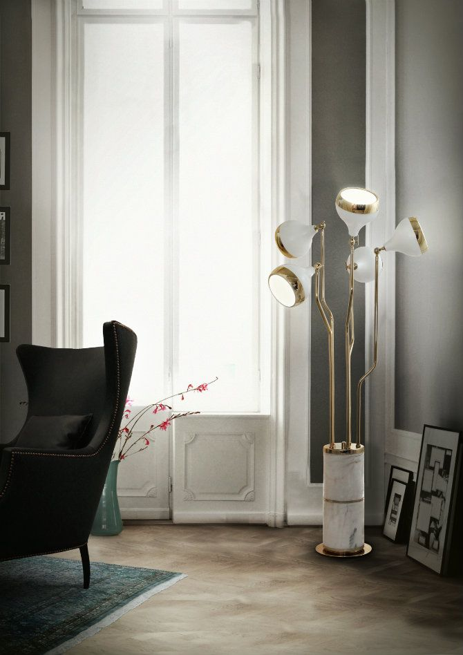 Hanna Is A Vintage Floor Lamp Which Suits Perfectly Living Room Or Hall Its Structure Made In Noble Marble Reports To Classical Ambiance