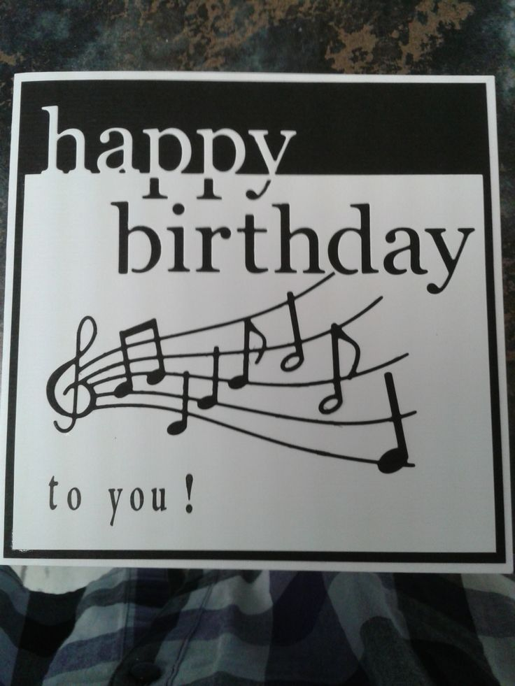 141 best Birthday Cards Music Theme images – Music Cards for Birthday