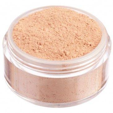 Fondotinta in polvere libera 100% minerale, nuova formulazione High Coverage ad alta coprenza. Tonalità media dal sottotono neutro.
