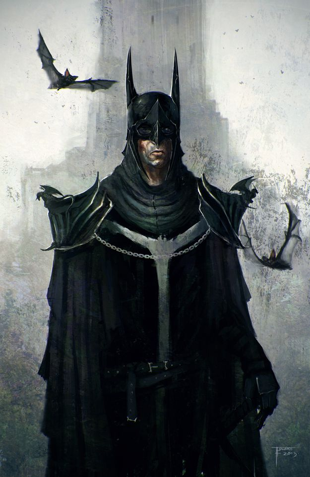 The Dark Knight for the Dark Ages. | 17 Visions Of Batman Throughout The Ages