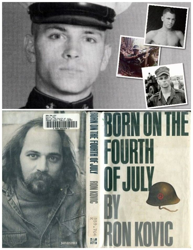 Ron Kovic:Army-volunteered for first tour to Vietnam in 1965/he also volunteered for a second tour in 1968. He was shot in attack and as a result of his injuries left paralyzed from the chest down. Received a Bronze Star with V for valor and Purple Heart. They based a movie on the book he wrote.