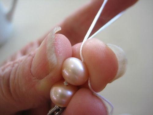 Photo tutorial - How to Knot Pearls...still haven't gotten this one yet, maybe this will help.