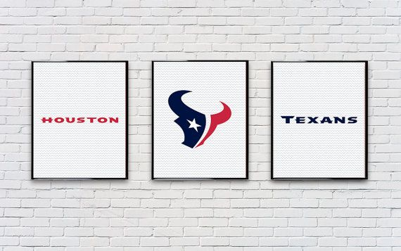 Digital Download Set of 3 Houston Texans Poster Set Typography Poster Print - Game Room - Boys Room - 8x10 11x14 12x18 on Etsy, $15.00