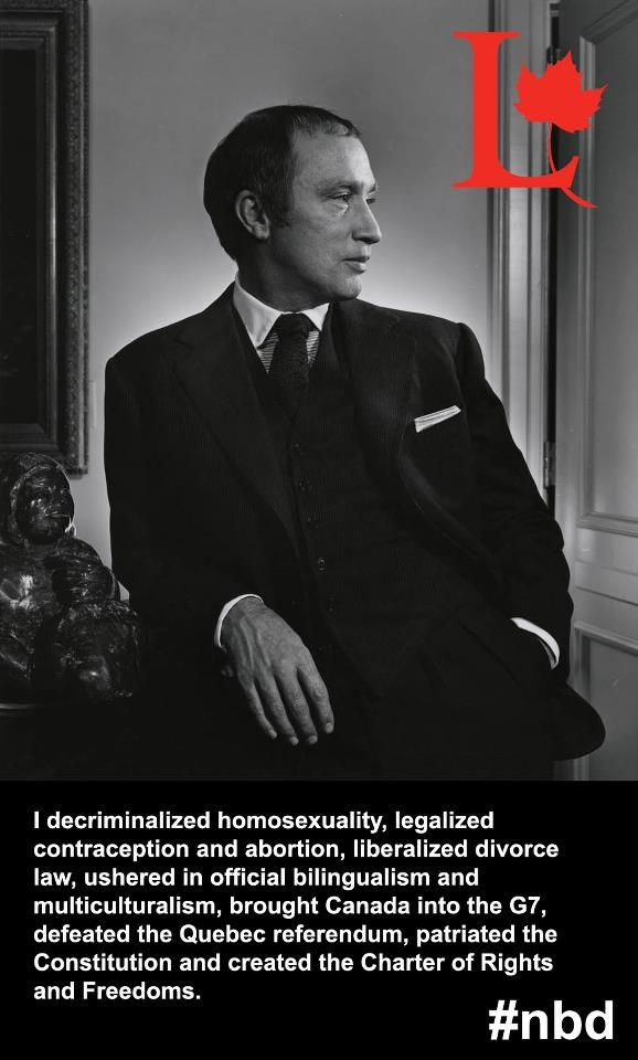 Joseph Philippe Pierre Yves Elliott Trudeau, PC CH CC QC FSRC; October 18, 1919 – September 28, 2000), usually known as Pierre Trudeau or Pierre Elliott Trudeau, was the 15th Prime Minister of Canada from April 20, 1968 to June 4, 1979, and again from March 3, 1980 to June 30, 1984.