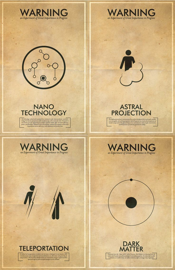 Any 5 Fringe Science Fiction Inspired Iconography Poster Series - 11x17 Vintage Warning Posters. $87.50, via Etsy.
