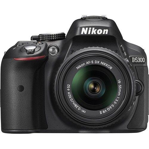 NIKON D5300 DSLR Camera with 18-55mm VR Lens  // Black $599.99