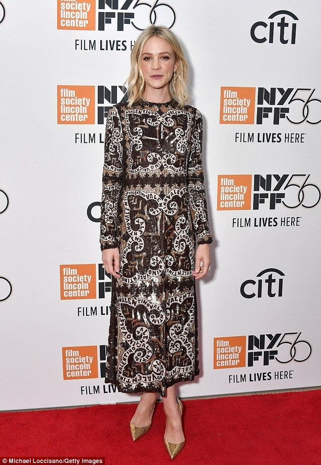 ec7b641c10af5 Carey Mulligan sparkles in Valentino at the NYFF premiere of ...