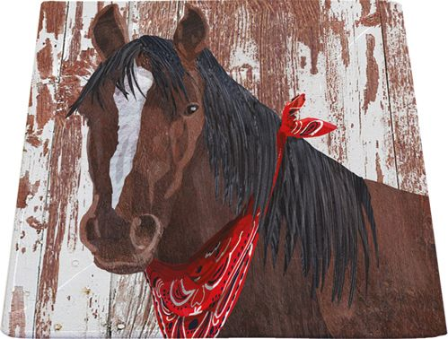 Our #TwoCanArt #Horse #Squareplate A % of sales go to #autism Organizations