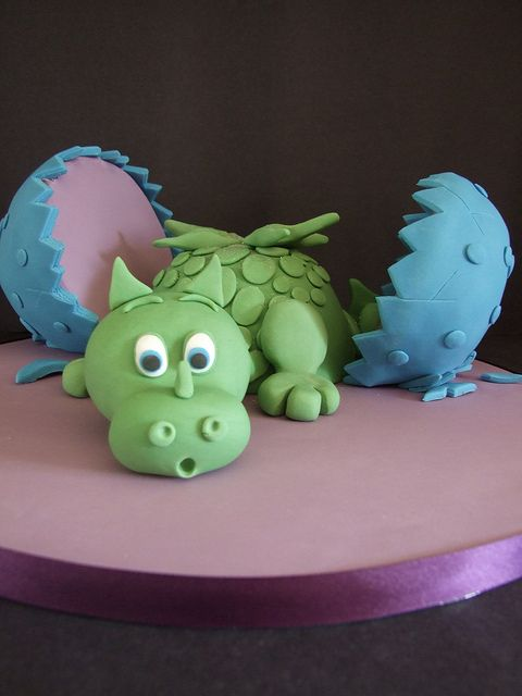 Baby Dragon Cake by cakes-by-kerry, via Flickr