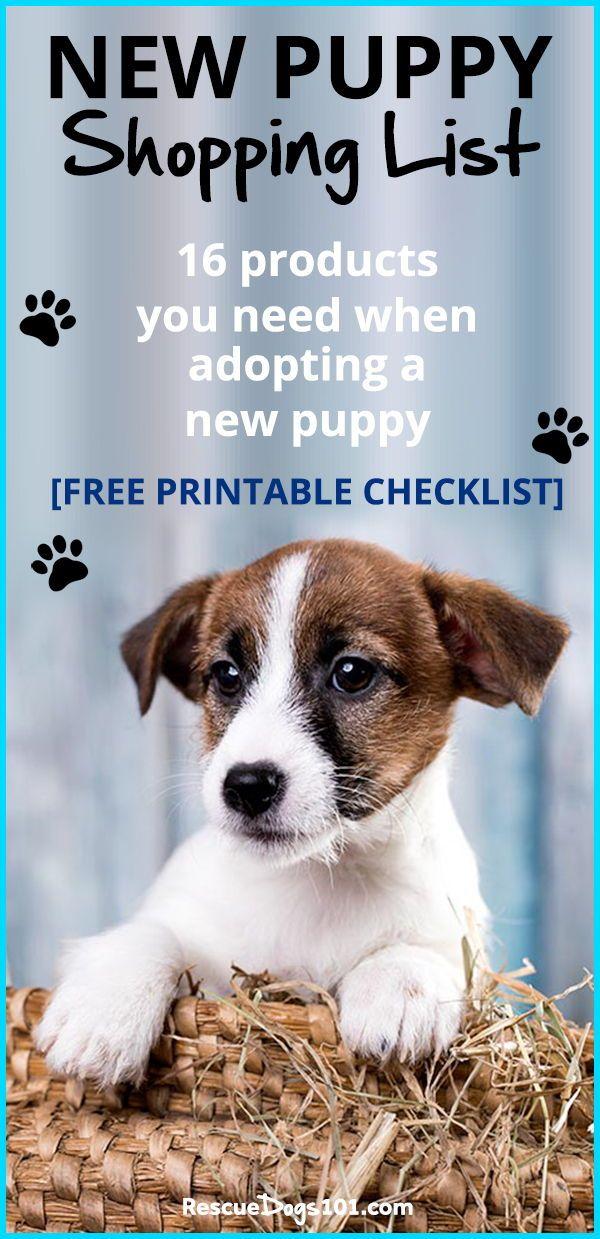 New Puppy Shopping List New Puppy Puppy Supplies Rescue Puppies
