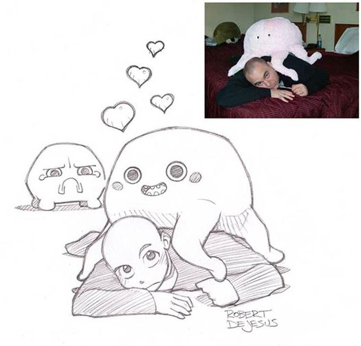 Un illustrateur s'amuse à dessiner le portrait des gens version manga (image)