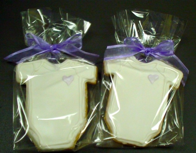 Onesie cookies for a baby shower #catering