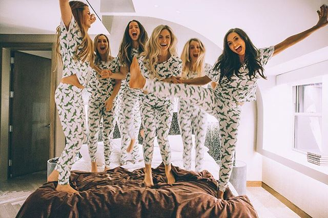 WEBSTA @ hayleynbradley - Who says matching pajamas and sleepovers are just for kids?