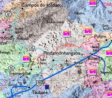 Mapa de Pindamonhangaba